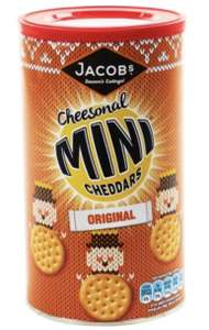 Mini cheddars and twiglets Xmas tubs 37p instore at Tesco