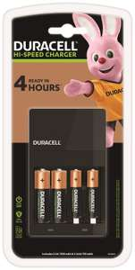 Duracell 45 Minutes Battery Charger with 2 AA and 2 AAA Batteries £12.49 at Amazon (+£4.49 non prime)