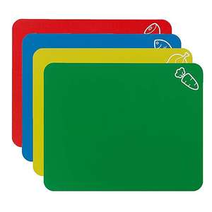 Dunelm - Colour Coded Flex Chopping Mats - Pack of 4 - Free C&C - £3.20