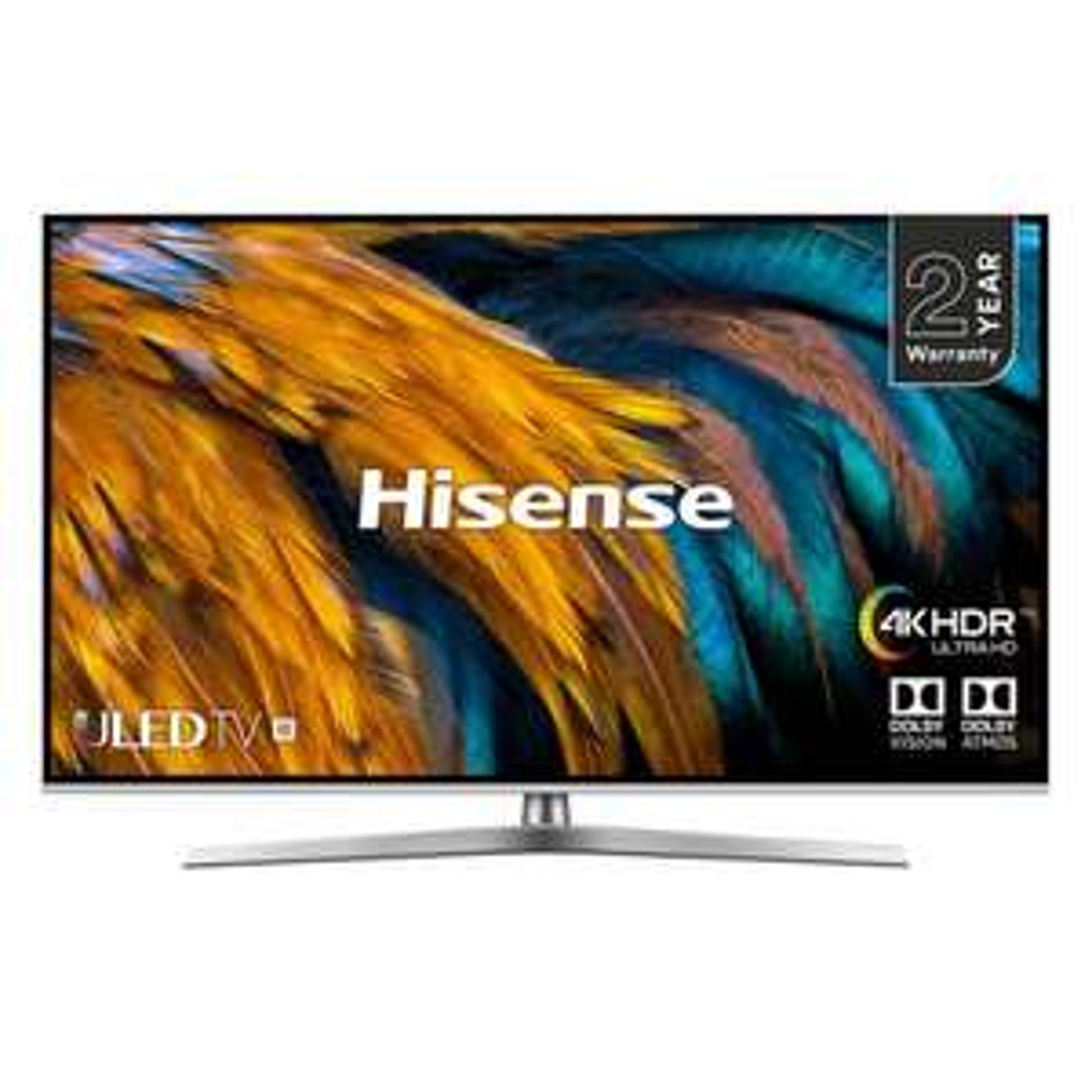 "Hisense H50U7BUK 50"" 4K HDR ULED Smart TV Dolby Atmos , £384.00 with code @ Hughes"