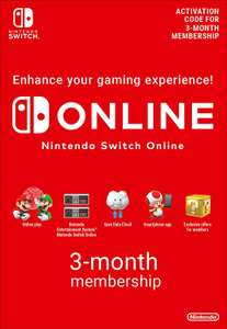 Nintendo Switch Online Membership - 3 Months   Switch Download Code for £3.85 @ Amazon UK