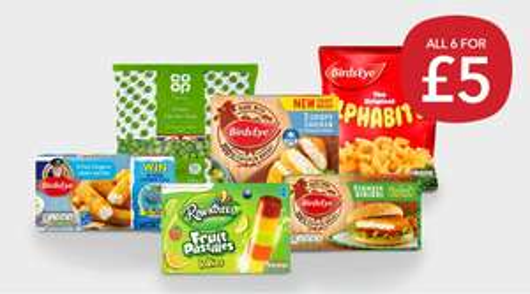 Co-op Frozen meal deal - £5 (Birds Eye and Nestle deal)