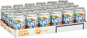 Fanta orange zero cans 24x330ml cans £6 in-store @ Iceland national