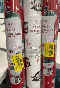 Christmas Wrapping Paper was £4 now 10p a Roll @ Waitrose & Partners Victoria