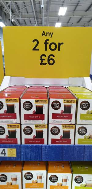 Nescafe Dolce Gusto Pods Any 2 for £6 @ Tesco