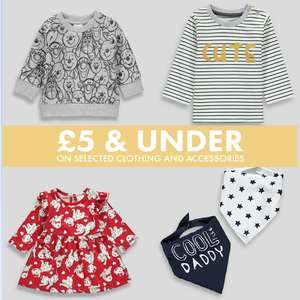 £5 & Under Baby Event + Free Click & Collect @ Matalan