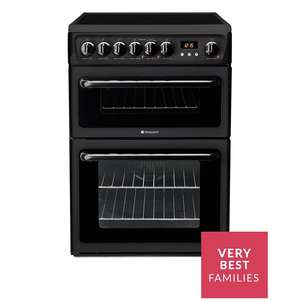 Hotpoint Newstyle HAE60K 60cm Double Oven Electric Cooker with Ceramic Hob £321.98 Delivered Using Code @ Very