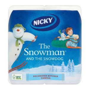 Nicky The Snowman and The Snowdog kitchen rolls (2pack) 50p at Aldi Hull