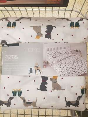 Sausage Dogs Brushed Cotton Bedset King £10.80 at Saisbury's Bournemouth