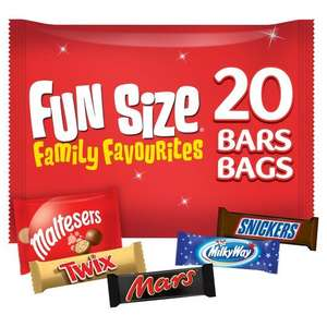 Mars Variety Funsize 20 Tesco in store only 50p each.
