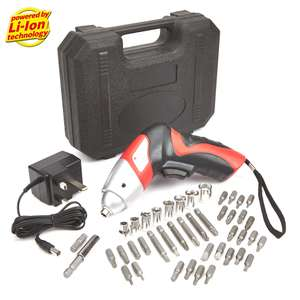 3.6V ELECTRIC CORDLESS SCREWDRIVER WITH 42 PIECE BIT SET £6.99 +£4 delivery @ TrueShopping