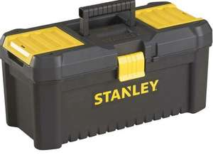 """Stanley STST1-75514""""Essential"""" 12.5"""" Toolbox with Plastic Latches, Black / Yellow ( Add on item) £4.99 @ Amazon"""