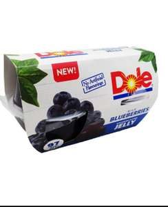 Dole Blueberries In Blueberry Jelly 4X123g 39p @ Heron