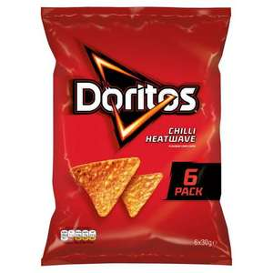 Doritos 6x30g pack chilli heat wave/Tangy cheese tortilla chips £1 at Iceland