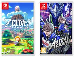 Nintendo Switch - The Legend of Zelda: Links Awakening £35.99 or Astral Chain £37.99 + 6months Spotify Premium @ Currys PC World