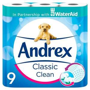 Andrex classic clean 9 pack £3 @ Morrisons