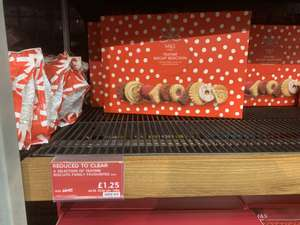 Teatime festive biscuit selection 600g £1.25 instore @ Marks and Spencer
