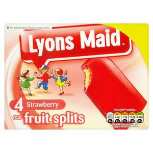 8 x Lyons Maid Strawberry Real Fruit Splits 73ml - £1 instore @ Fulton Foods