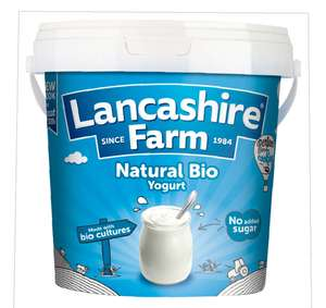 Lancashire Farm Natural Bio & Fat Free Yogurt 1kg £1.15 @ Iceland & Morrisons