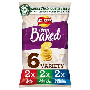 Walkers Baked 6 x 25g various flavours available £1 @ Morrisons.