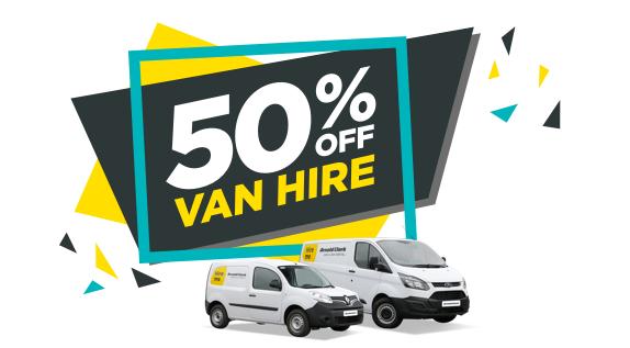 Save 50% on van hire @ Arnold Clark using code. It's vantastic!