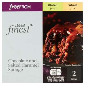 Tesco's Finest Free From Chocolate and Salted Caramel Sponge 200G Gluten Free Wheat Free - 75p instore @ Tesco Northampton