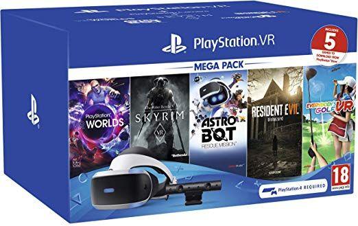 [PS4] Playstation VR (PSVR) Mega Pack Inc Skyrim VR, RE 7, Astro Bot, Everybody's Golf VR & VR Worlds - £209.85 delivered @ Simply Games