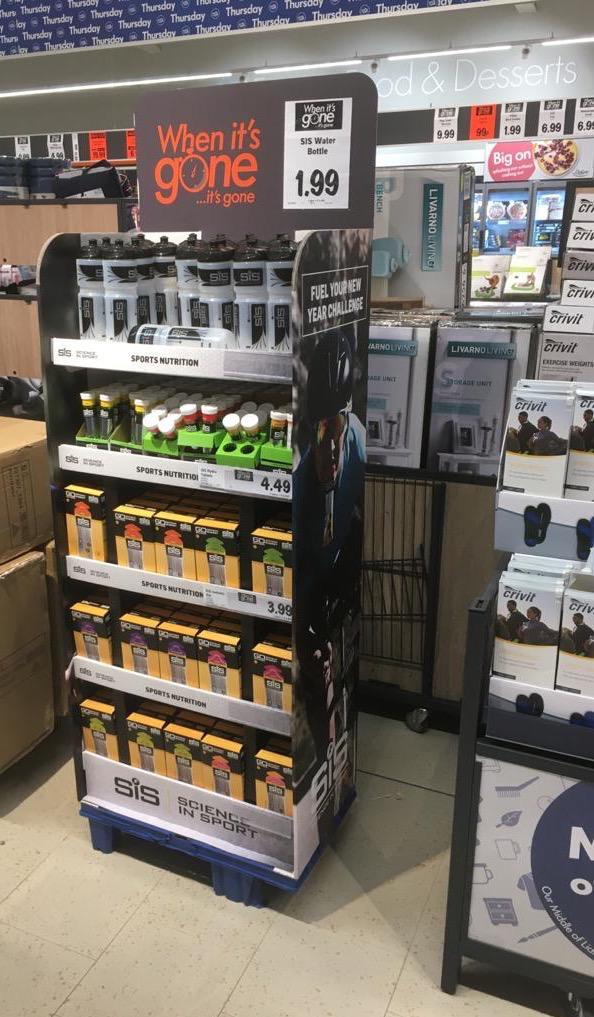 SiS Bottle - £1.99 in Lidl + 6 pack gels £3.99 & hydro £4.49