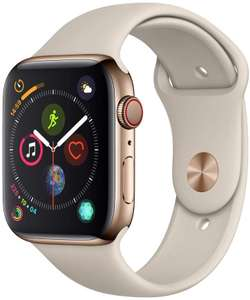 Apple Watch Series 4 (GPS + Cellular, 44mm) - Gold Stainless Steel Case with Stone Sport Band £441.35 @ Amazon