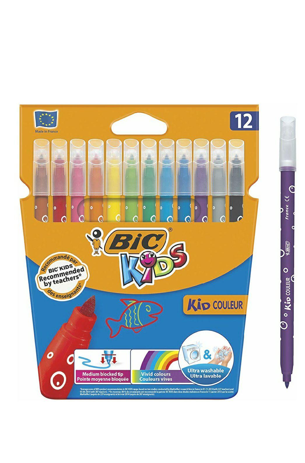 BIC Kids Couleur Felt Tip Colouring Pens - Assorted Colours - Cardboard Wallet of 12 - £1.50 @ Amazon Prime (+£4.49 non-Prime)