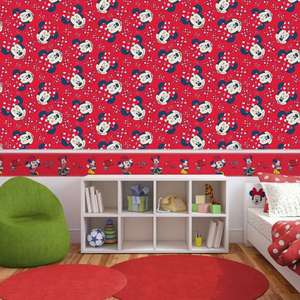 Disney - Minnie Mouse Red Bow Wallpaper - £7.99 @ Debenhams