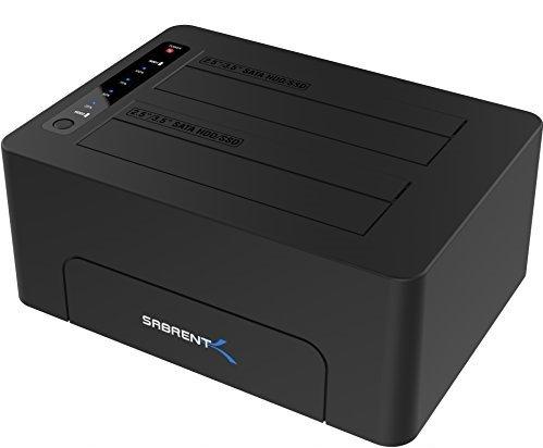 Sabrent USB 3.0 to SATA Dual Bay External Hard Drive Docking Station - Sold by SLJ Trading / FBA @ Amazon - £23.70