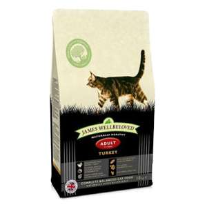 James Wellbeloved Complete Adult Cat Food With Turkey 10kg - £38.37 delivered (with code) @ Fetch