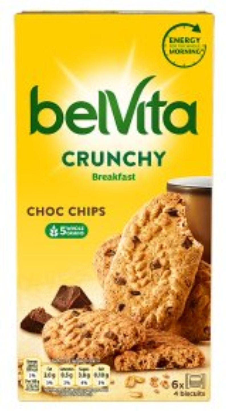 Belvita Breakfast Biscuits Bars Crunchy Choc Chips 6x50g £1 @ Sainsbury's