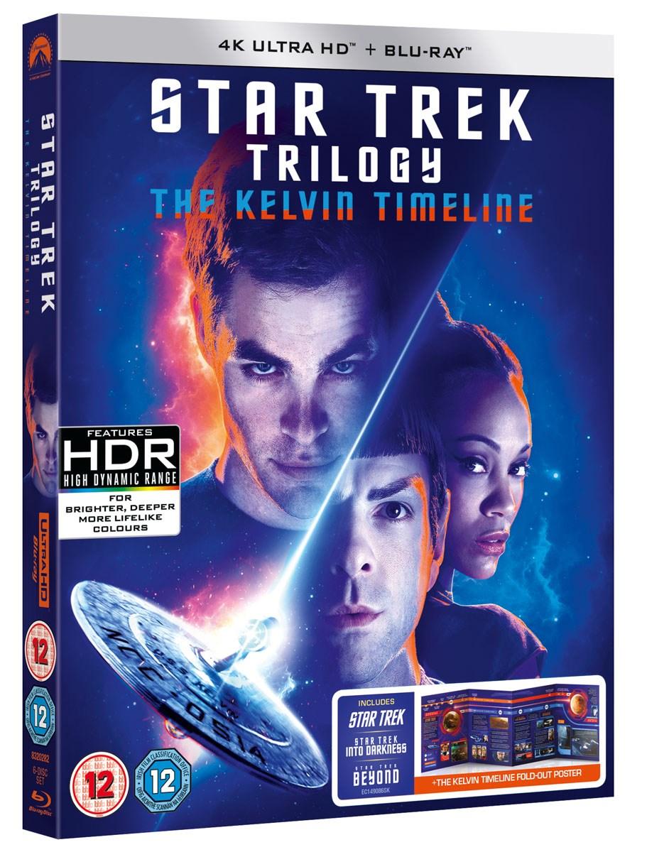 Star Trek: The Kelvin Timeline (4K Ultra HD + Blu-ray (Star Trek, Star Trek Beyond & Into Darkness) £26.75 / £24.07 with code @ Zoom