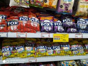 Fox's Glacier Fruits, Dark, Mint's, and Tropical (195g, instead of 130g), 89p each, at PoundStretcher