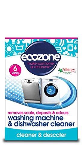 Ecozone Washing Machine and Dishwasher Cleaner, 6 uses now £3.32 (Prime) + £4.49 (non Prime) at Amazon