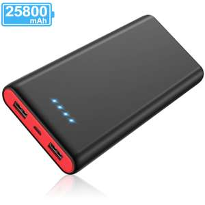 Yacikos Power Bank 25800mAh, Portable Charger Sold by XINLANG-EU and Fulfilled by Amazon £10.59 Prime (+£4.49 non Prime)
