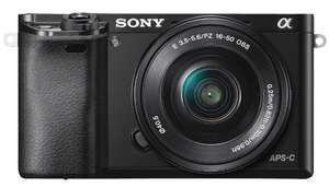 Sony A6000 Compact System Camera with 16-50mm OSS Lens, HD 1080p, 24.3MP, Wi-Fi, NFC, OLED EVF, £359 at John Lewis & Partners