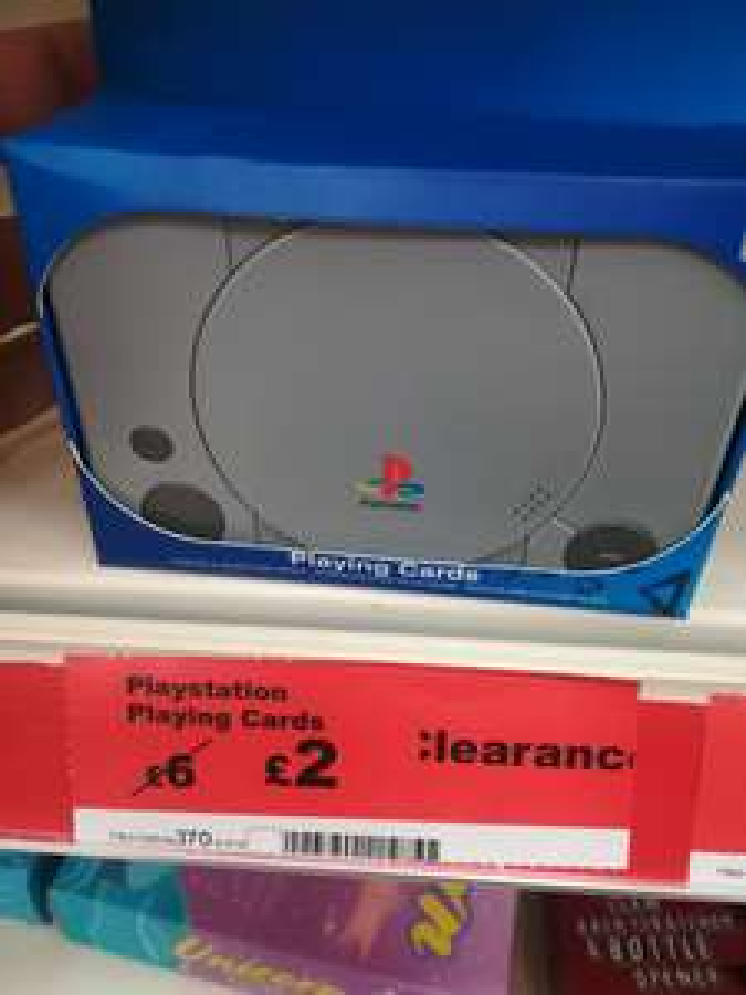 PlayStation playing cards £2 @ Sainsbury's
