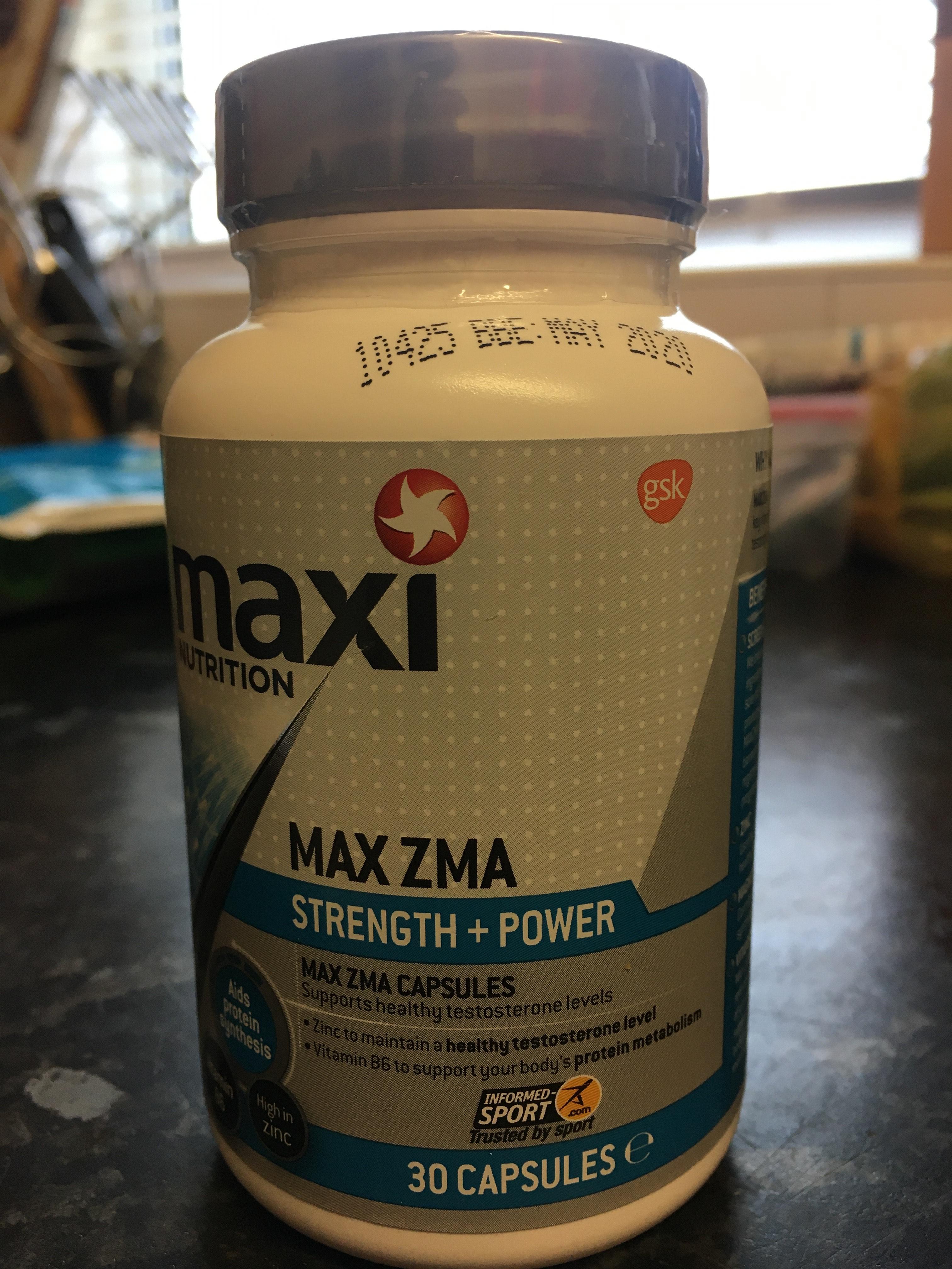 Maxi Nutrition Max zma £1.99 at Caernarfon Home Bargains