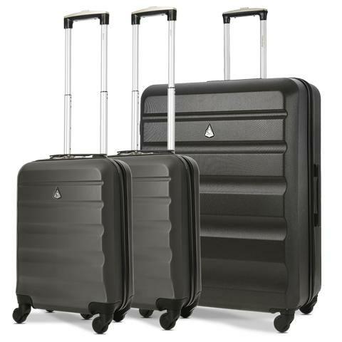 Aerolite Hard Shell Suitcase Luggage Travel Bundle (2 x Cabin Hand Luggage + 1 x Large Hold Luggage Suitcase) £62.70 - Packed Direct