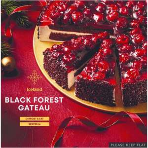 1\2 Price : Black Forest Large Gateau 1.19kg , Now £2 ( strawberry \ chocolate ) @ Iceland