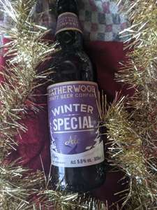 "Hatherwood 5% ABV ""Winter Special ale"" in store at Lidl Malvern"
