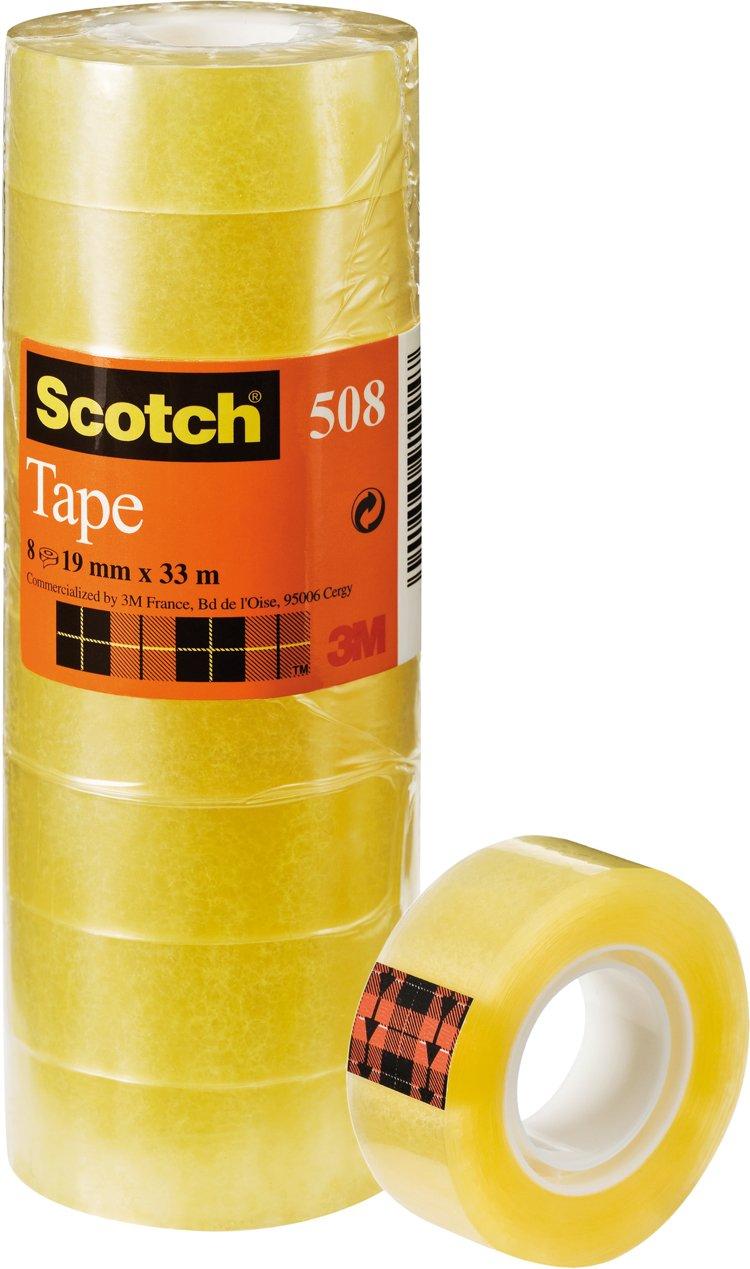 Scotch General Purpose Office Utility Tape - Transparent - 8 Rolls - 19 mm x 33 m, £3.99 at Amazon (+£4.49 non prime)