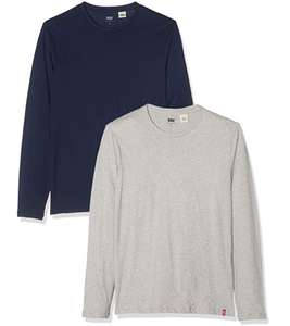 Levi's Men's Ls Slim 2 pack Crewneck Long sleeve T-Shirt £17.50 at Amazon (+£4.49 non prime)