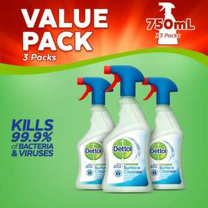 Dettol Antibacterial Surface Cleaning Spray, 750 ml, Pack of 3 £3.75 @ Amazon Add on item