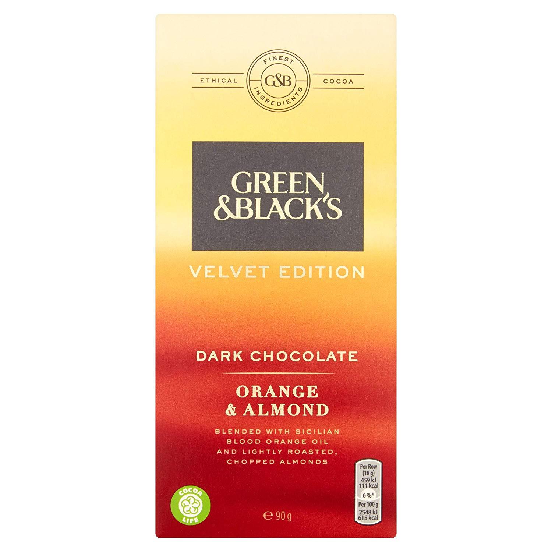 Green & Black's Dark Orange and Almond Chocolate Bar 90g Pack of 9 £1.50 @ Amazon Pantry / prime