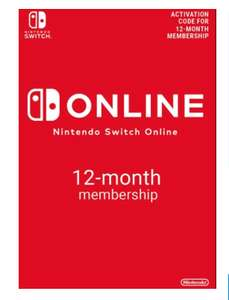 Nintendo Switch Online 12 Month (365 Day) Membership Switch £14.79 @ CD keys