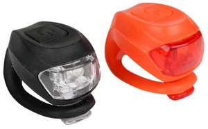 Halfords Super Slim Bike Light Set (Run Time: Constant 40 hours, Flashing 80 hours) - £3.99 + Free Click & Collect @ Halfords